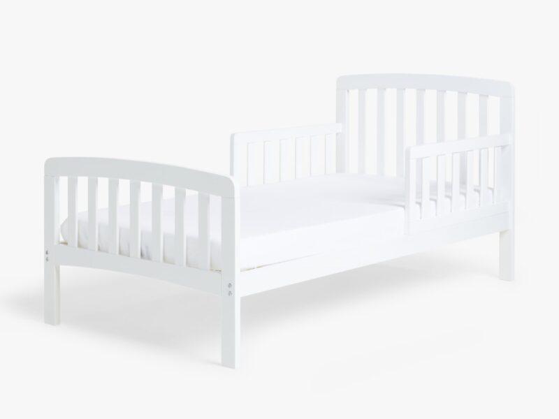 White toddler size bed frame