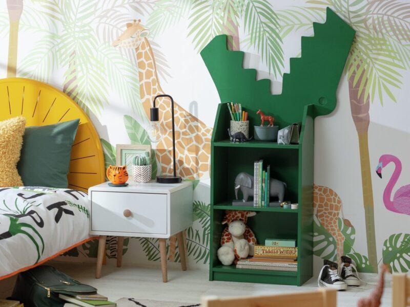 Crocodile themed bookcase